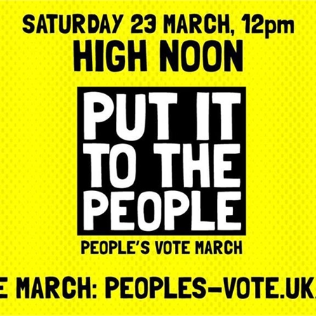 SUBU Goes to the People's Vote March