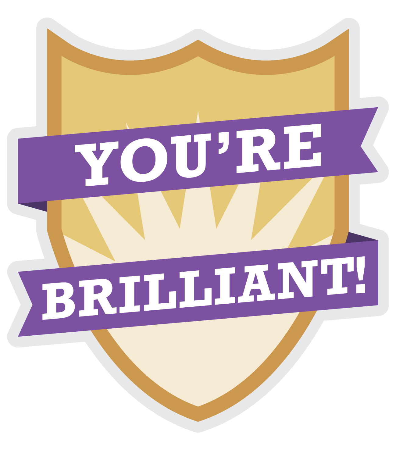 You're Brilliant Award logo
